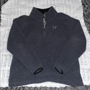 Sherpa cowl neck sweater